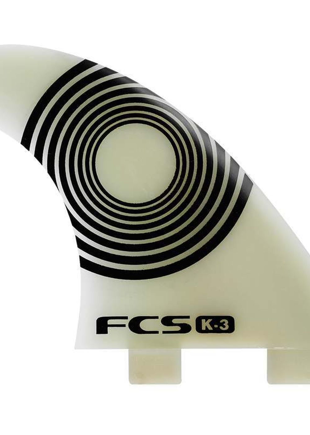 Shore  FCS K-3 NATURAL GLASS TRI FIN SET