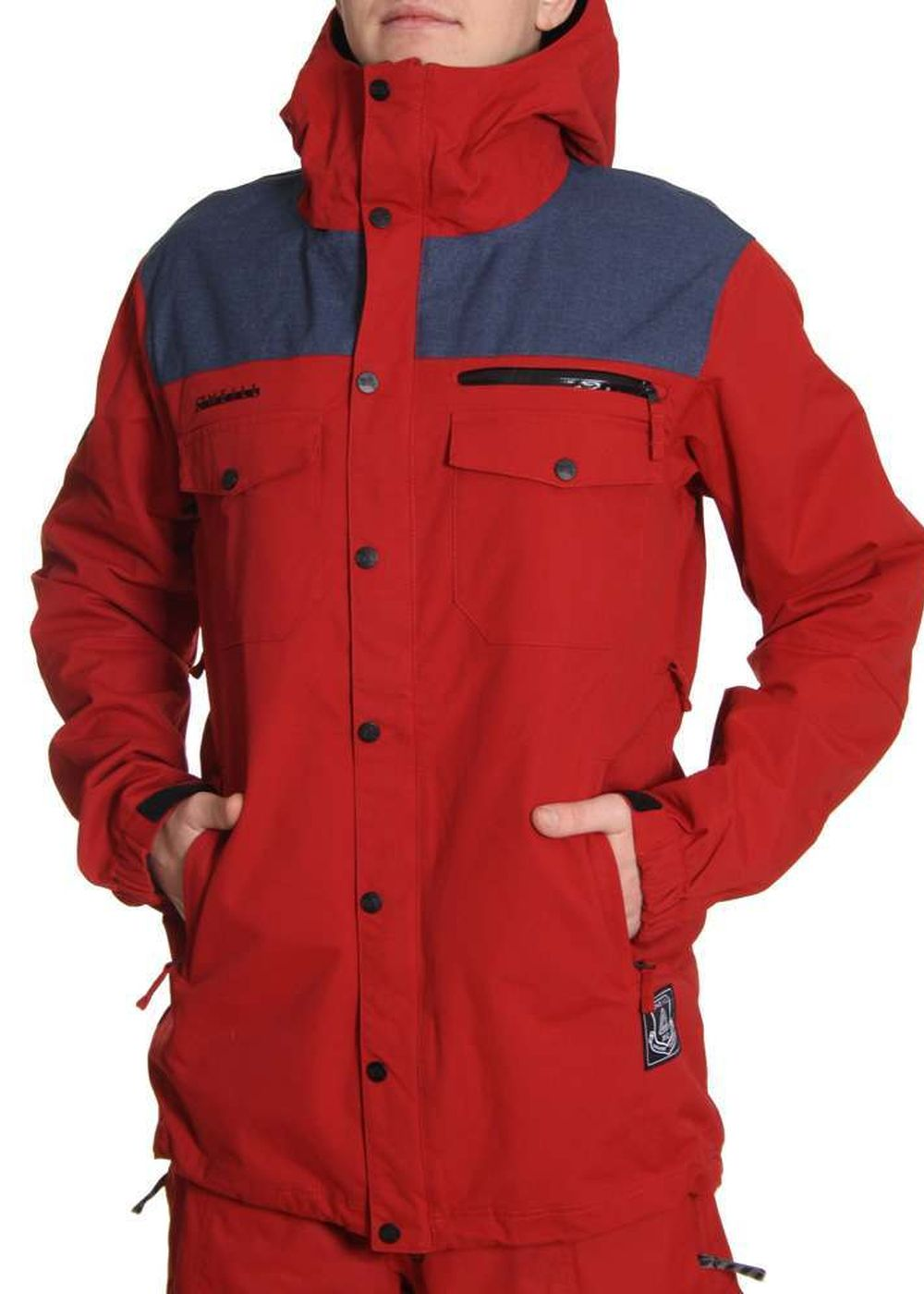 oneill freedom button up snow jacket rio red