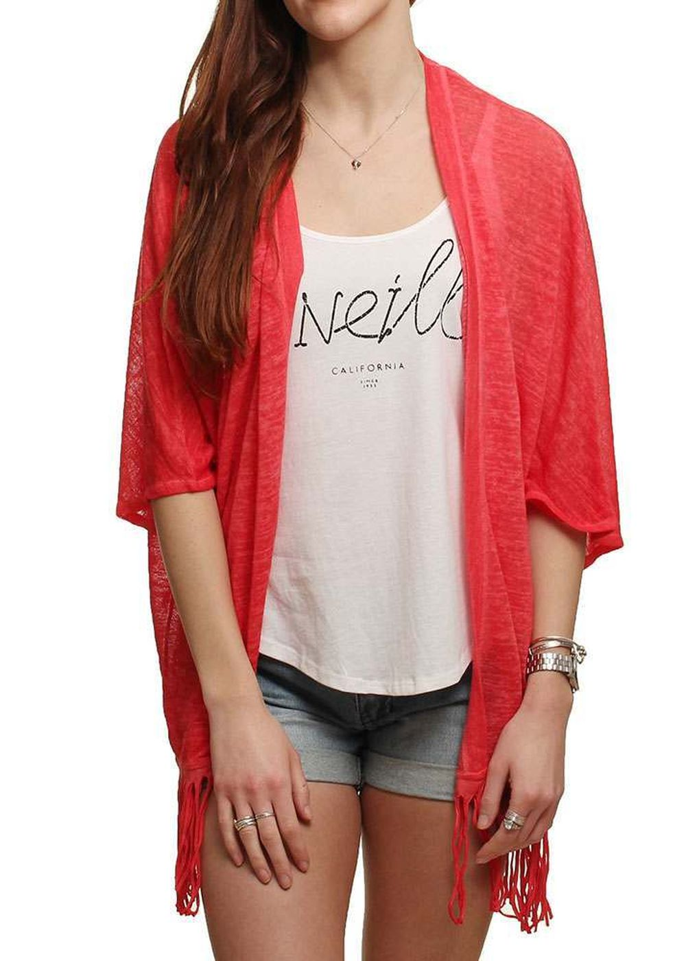 ONeill Apres Surf Pullover Light Hibiscus Red