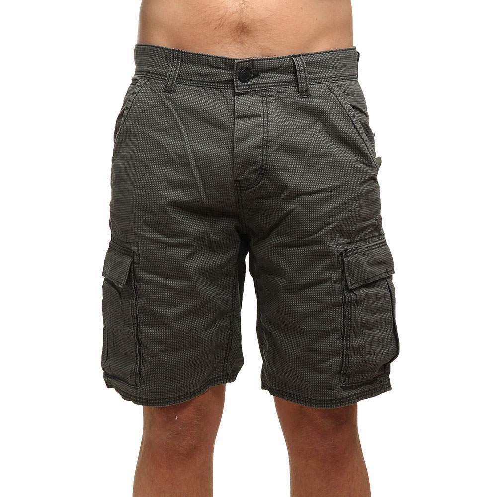 oneill complex check cargo shorts green/black