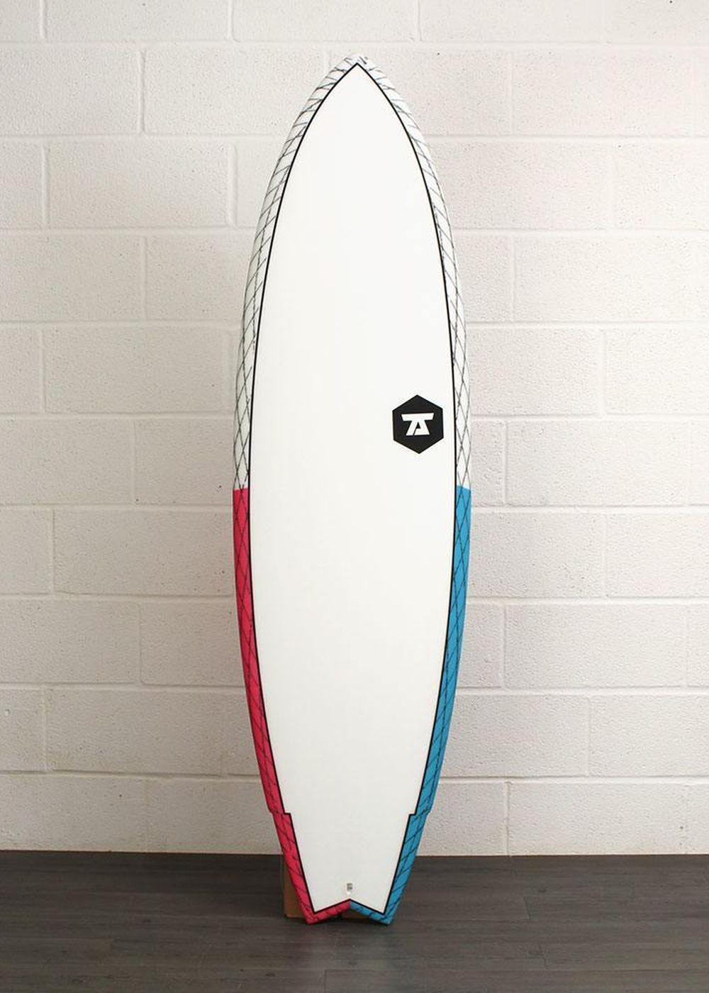 7S SUPER FISH 3 CV SURFBOARD 6ft 3 Blue/Red