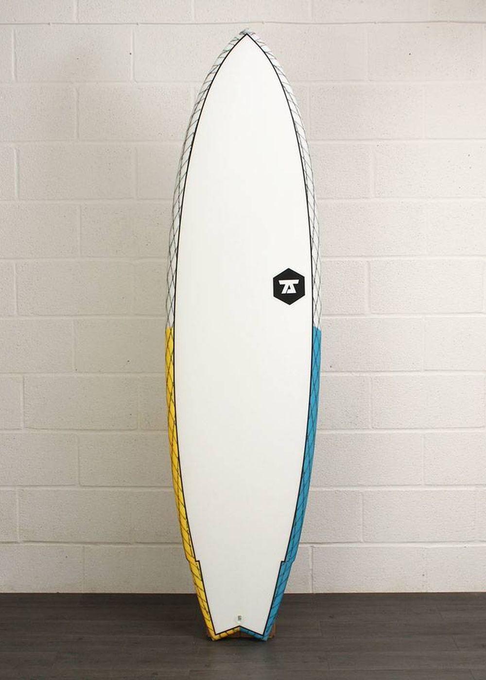 7S SUPER FISH 3 CV SURFBOARD 6ft 9 Yellow/Blue