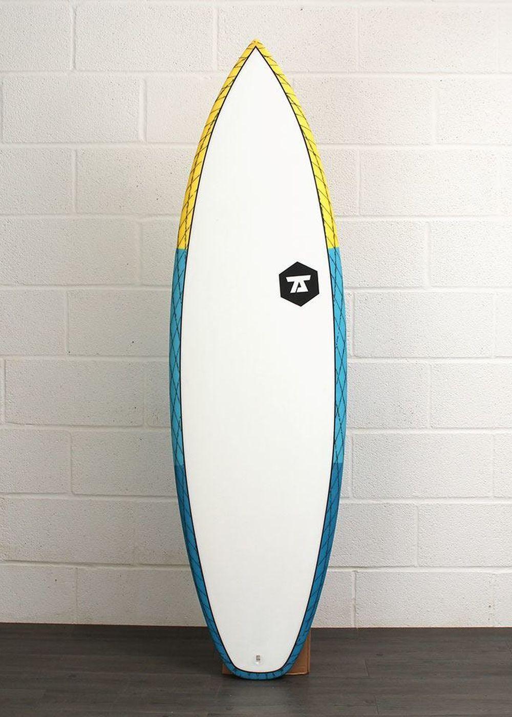 7S SALT SHAKER CV SURFBOARD 6ft 0 Yellow/Blue