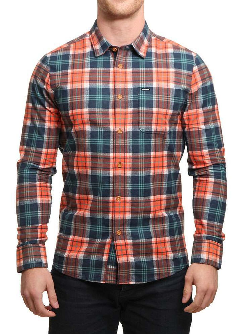 volcom-hayden-flannel-shirt-papaya