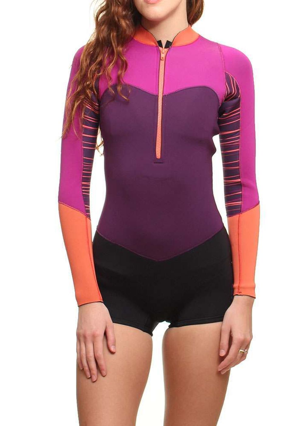 Roxy Xy 2mm Long Sleeve Shorty Wetsuit 2015 Mulbry Picture
