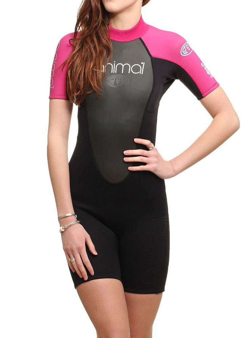 ANIMAL WOMENS AMP 3/2 SHORTY WETSUIT 15 Pink