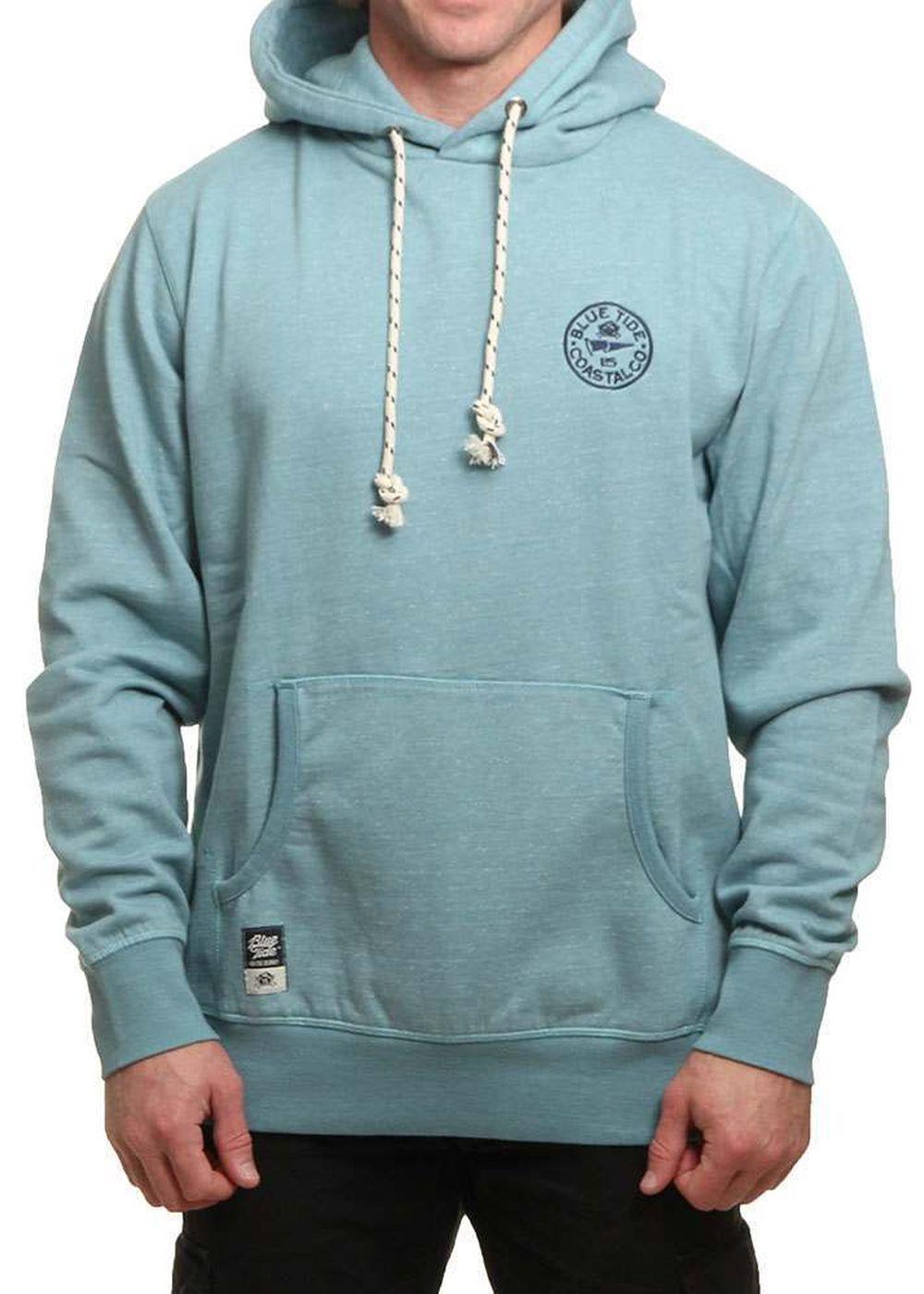 blue tide fleck knit hoody arctic