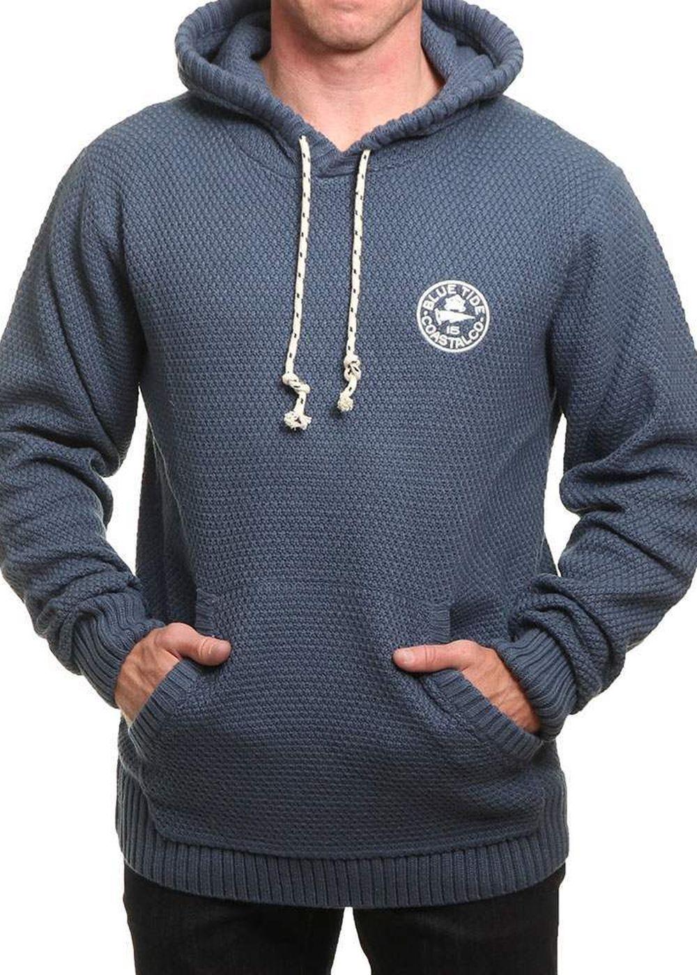 blue tide knitted pop hoody bering sea