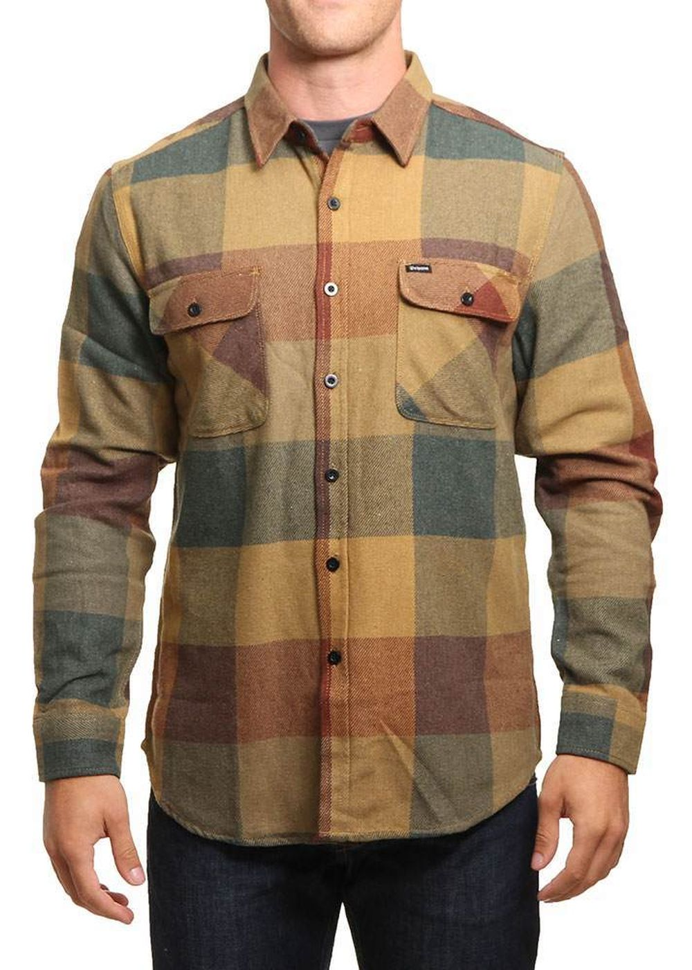brixton-bowery-flannel-shirt-rustcopper