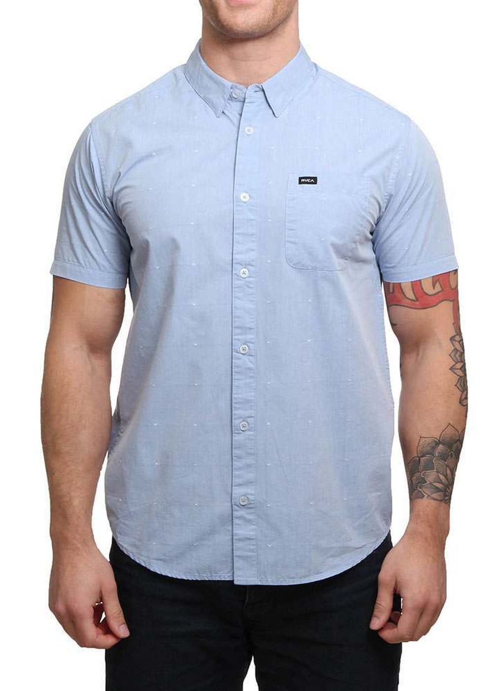 rvca-va-dobby-shirt-aruba-blue