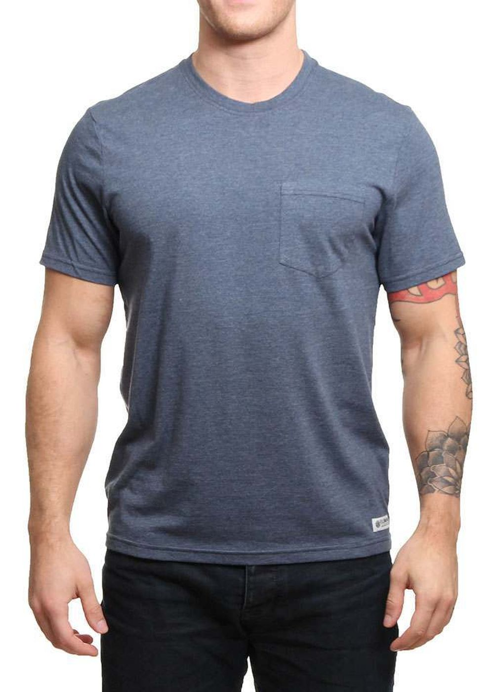 element-basic-pocket-tee-midnight-blue-heather