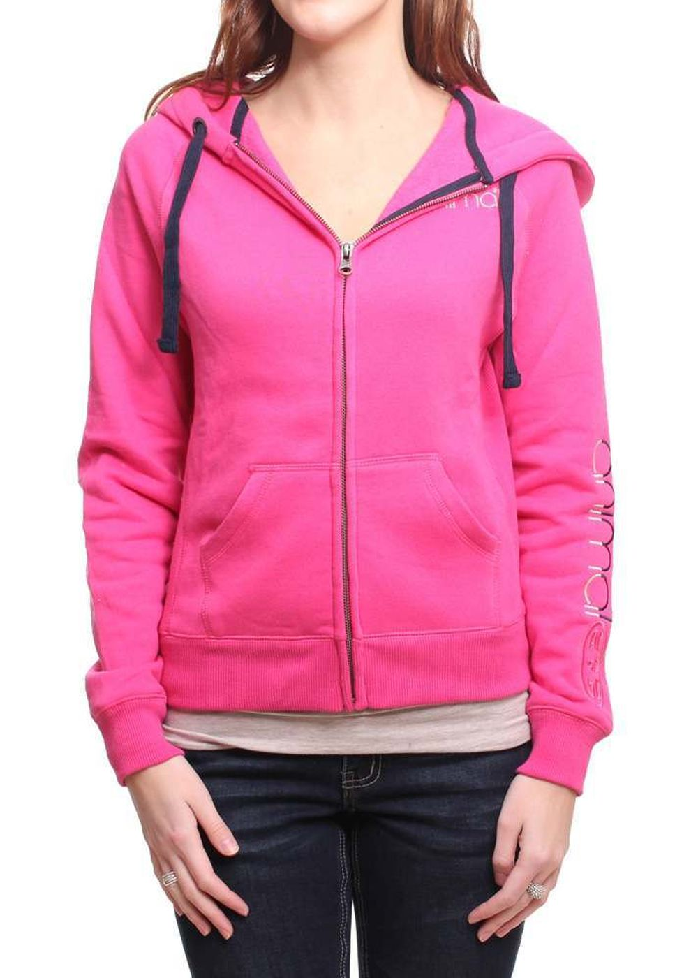 ANIMAL JAHIRA ZIP HOODY Fuchsia