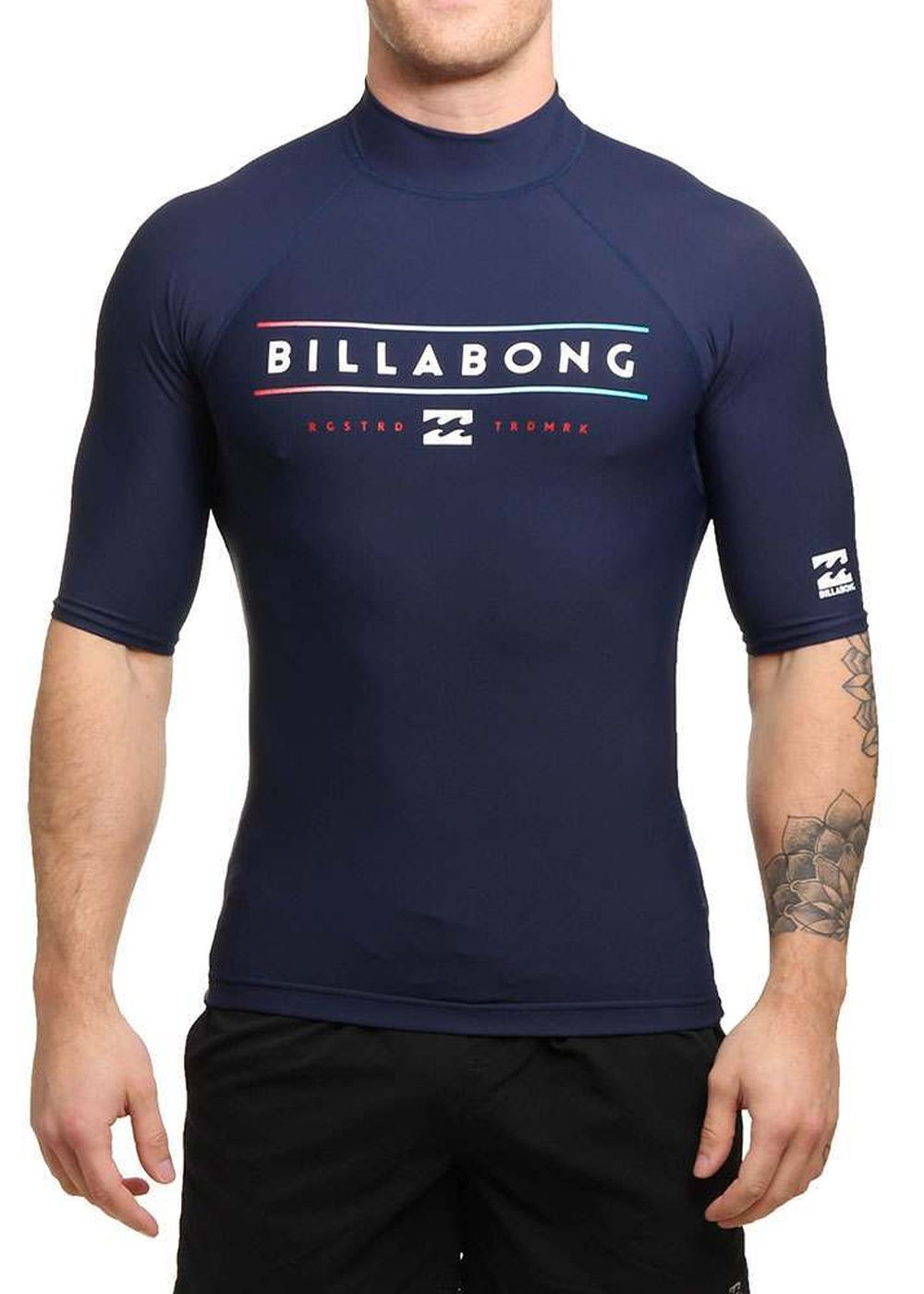 Billabong Unity Short Sleeve Rash Vest Navy Picture