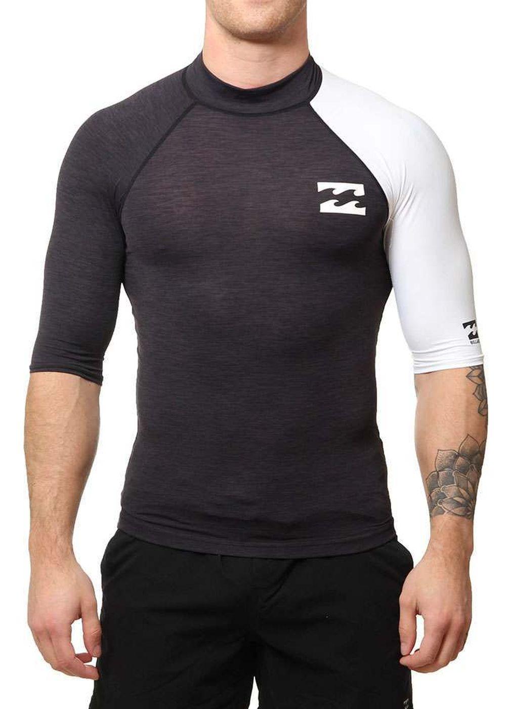Billabong Contrast Short Sleeve Rash Vest Black Picture