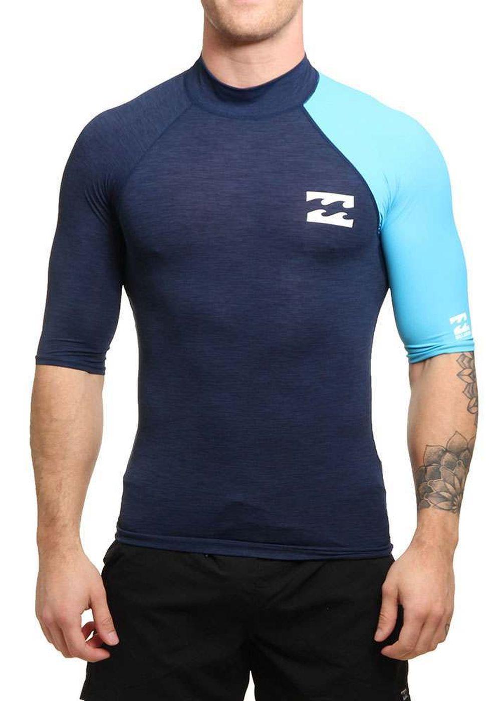 Billabong Contrast Short Sleeve Rash Vest Navy Picture