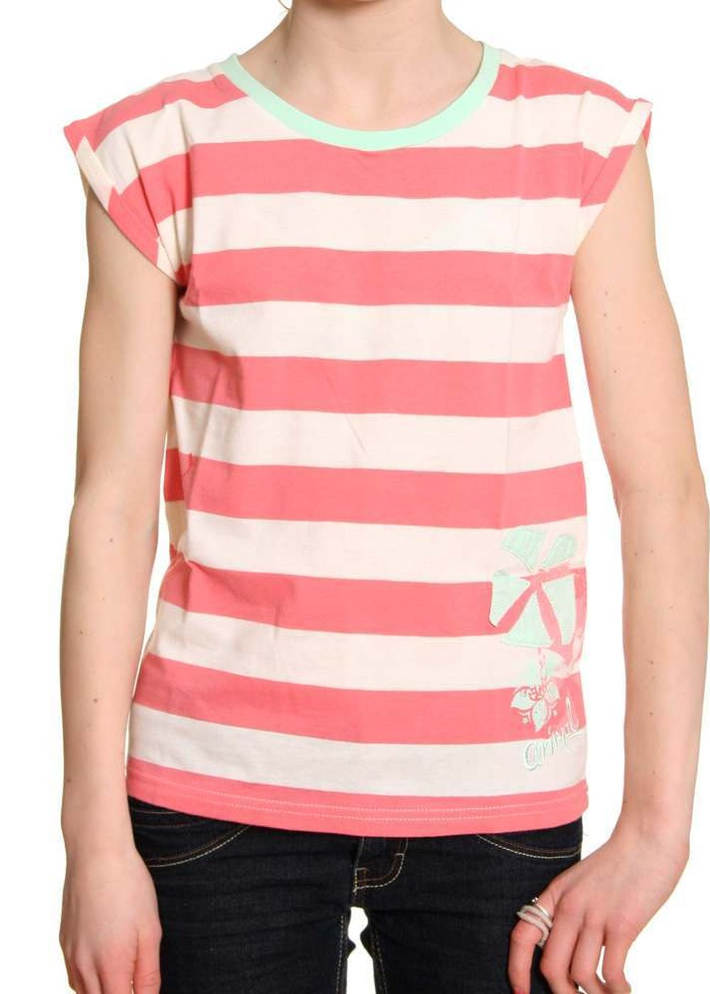 ANIMAL GIRLS DESILVER DELUXE TEE Sunkist Coral