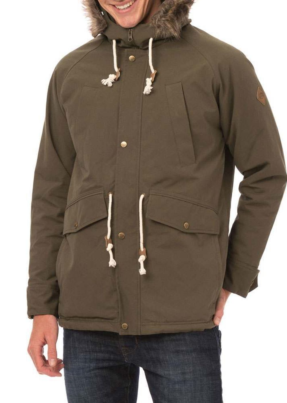 animal jamisons parka jacket olive green