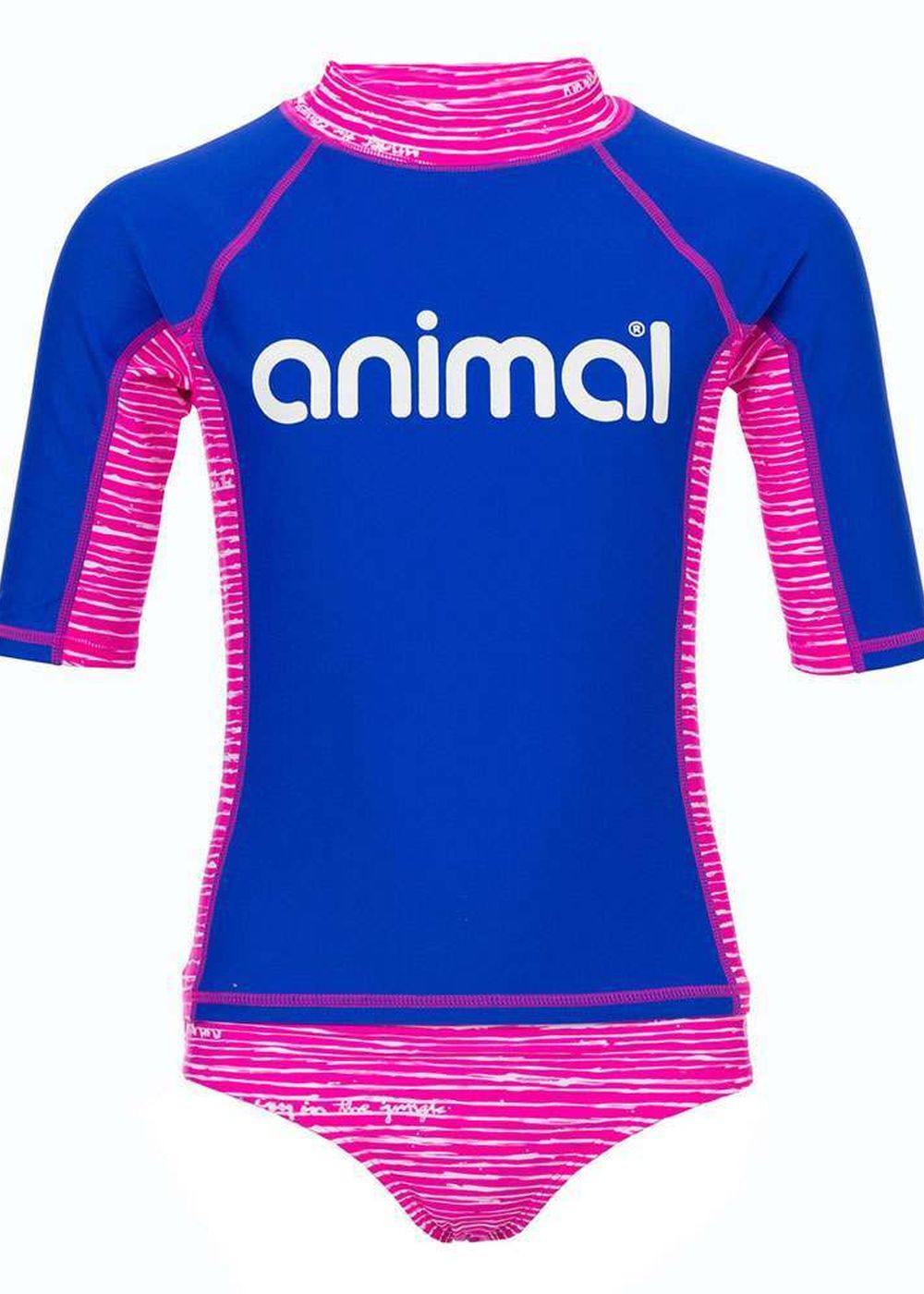 Animal Girls Shipwrecked Rash Suit Pink