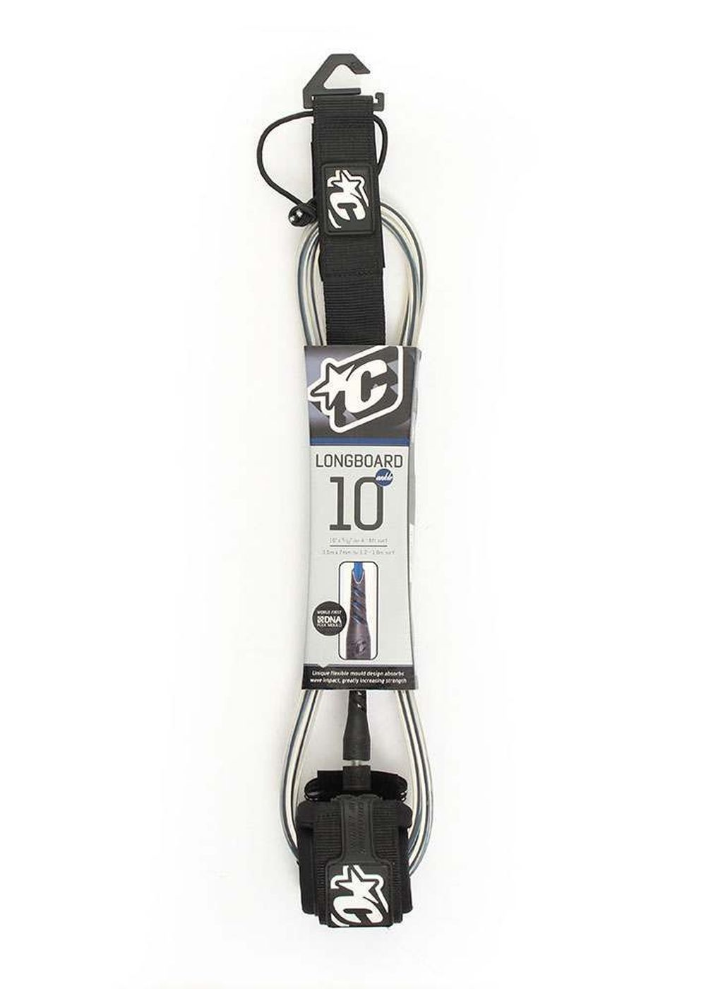 CREATURES LONGBOARD ANKLE 10FT LEASH Black/Clear