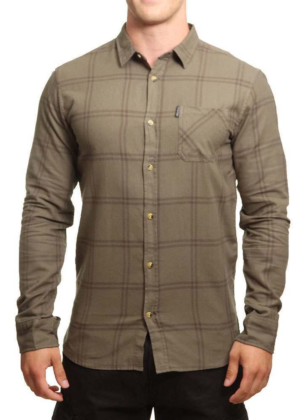 ripcurl check shirt dusty olive
