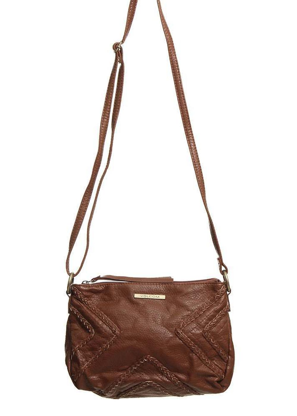 volcom city girl cross body bag bear brown