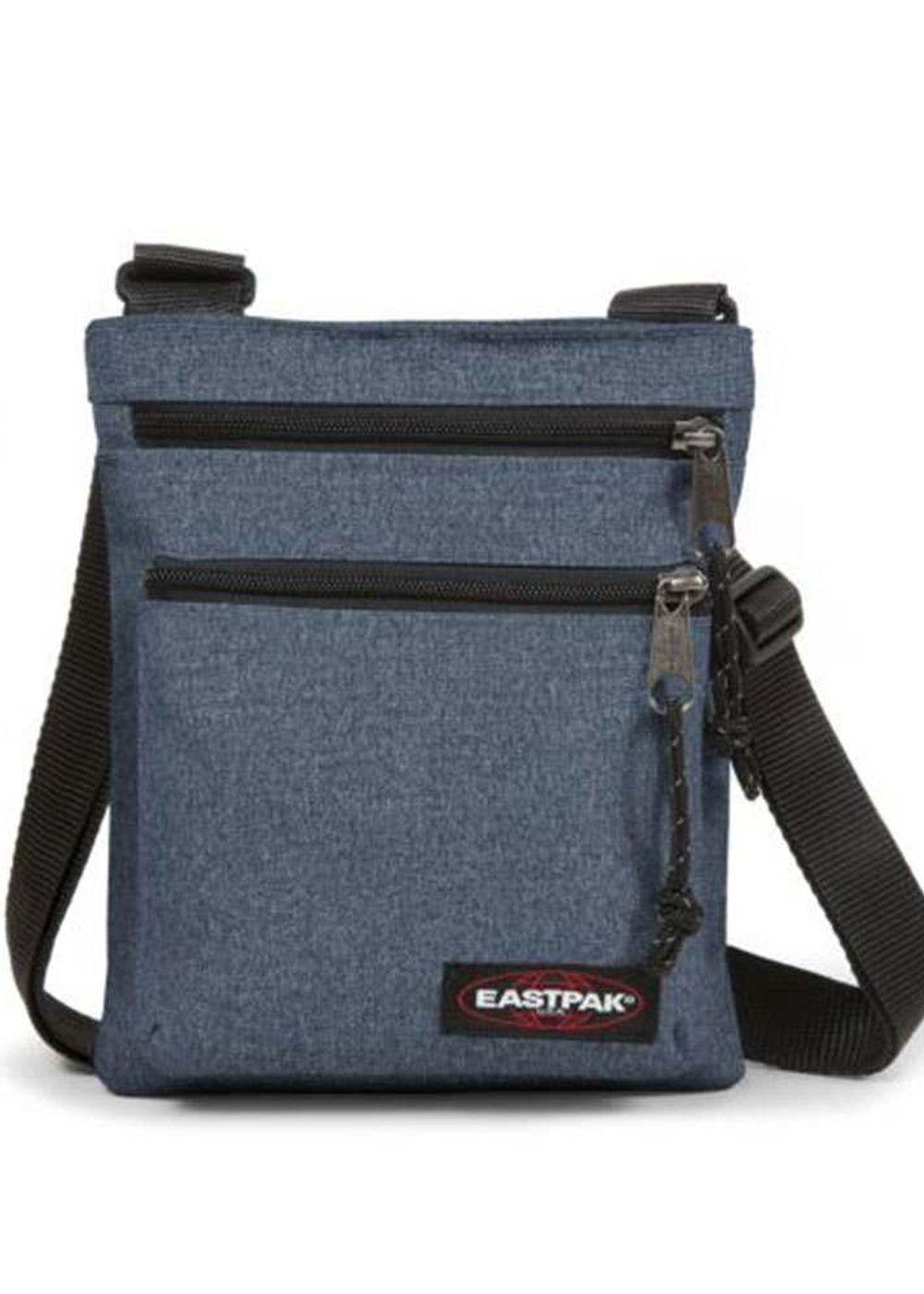 eastpak rusher shoulder bag double denim