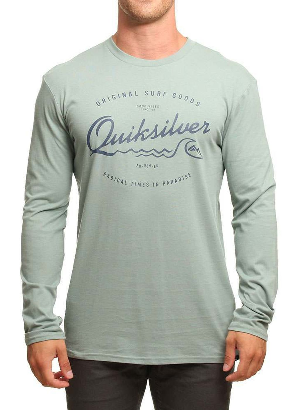 quiksilver west pier l/s top chinois green