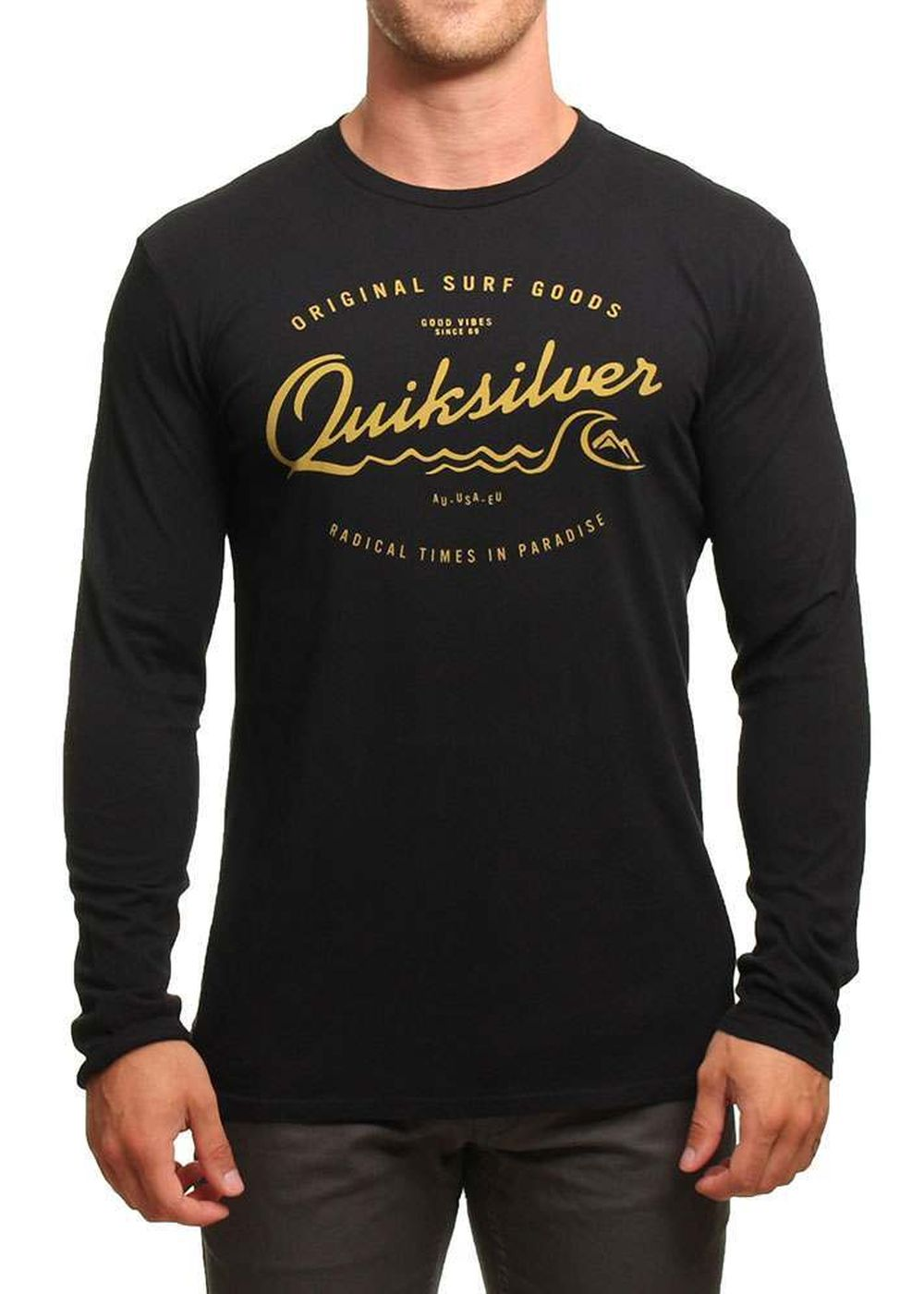 quiksilver west pier l/s top black