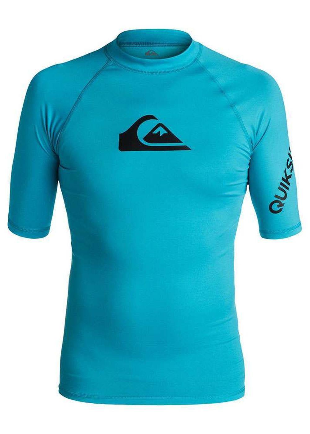Quiksilver All Time Short Sleeve Rash Vest Blue Picture