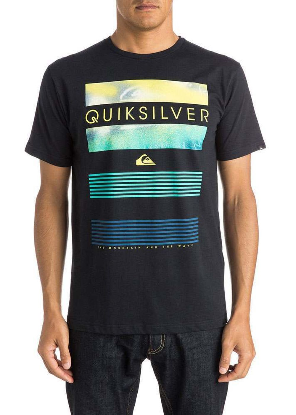 quiksilver classic line up tee black