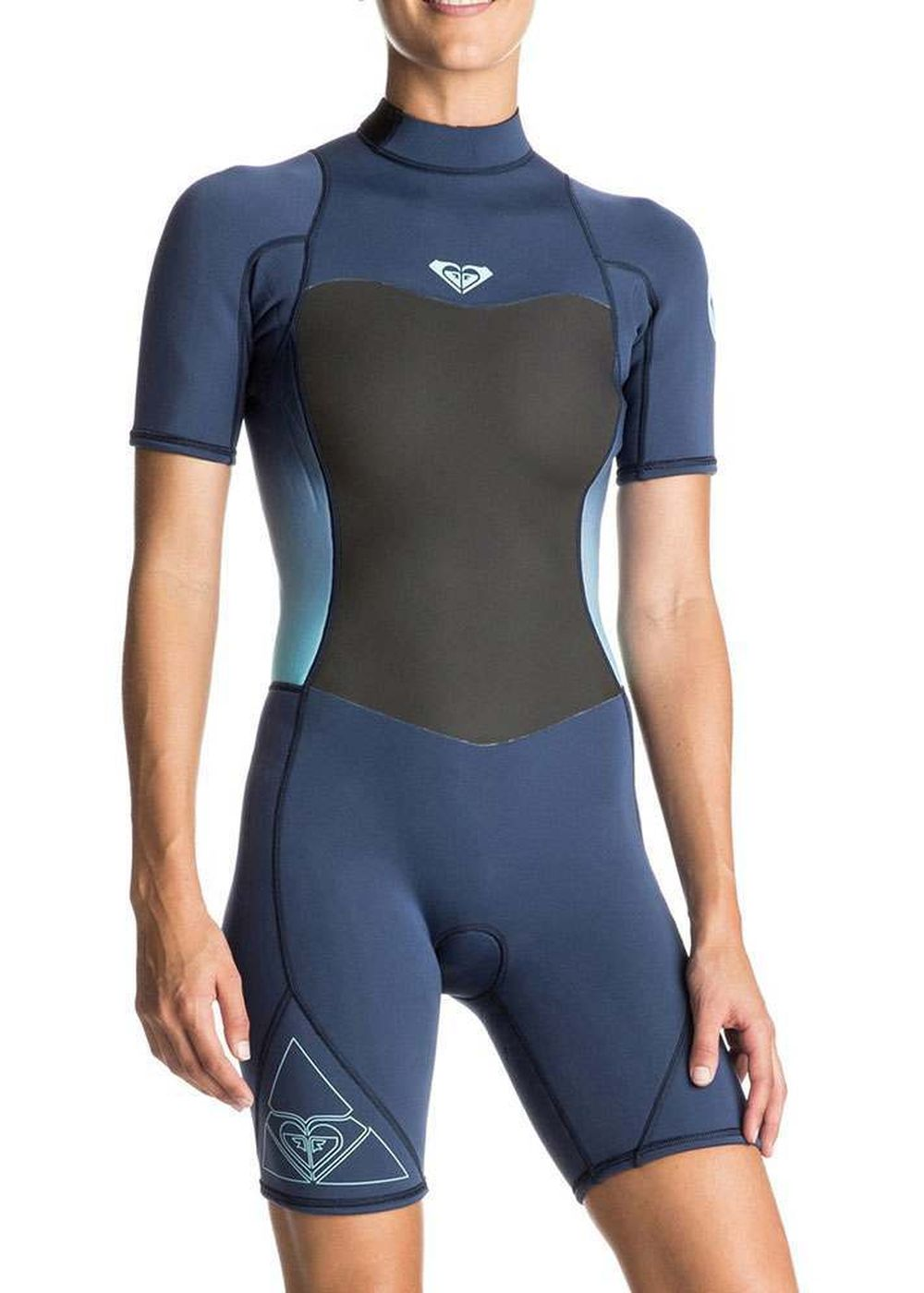 Roxy Syncro 2mm Shorty Wetsuit Blue Print Picture