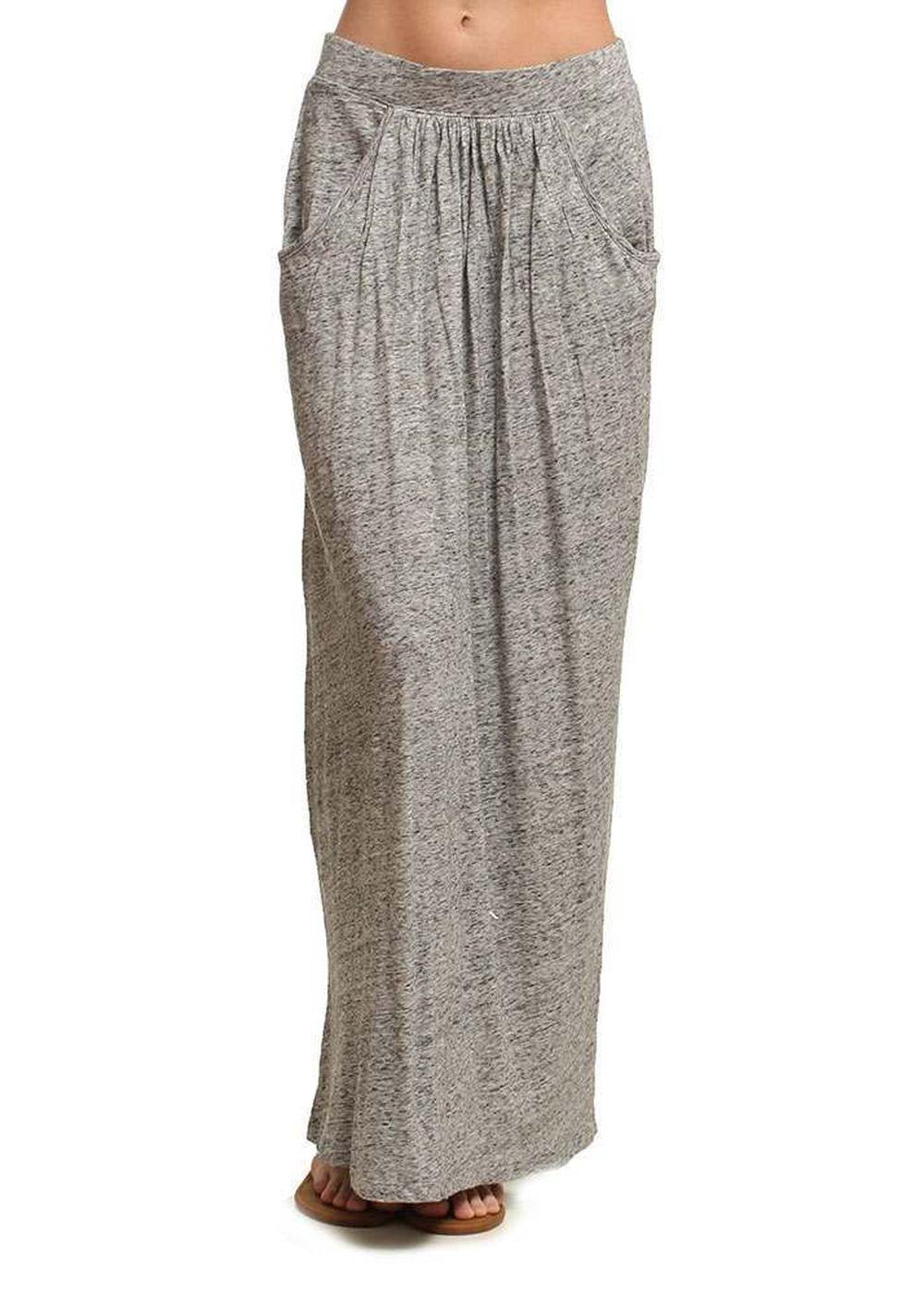 Roxy Last Line Maxi Skirt Heritage Heather