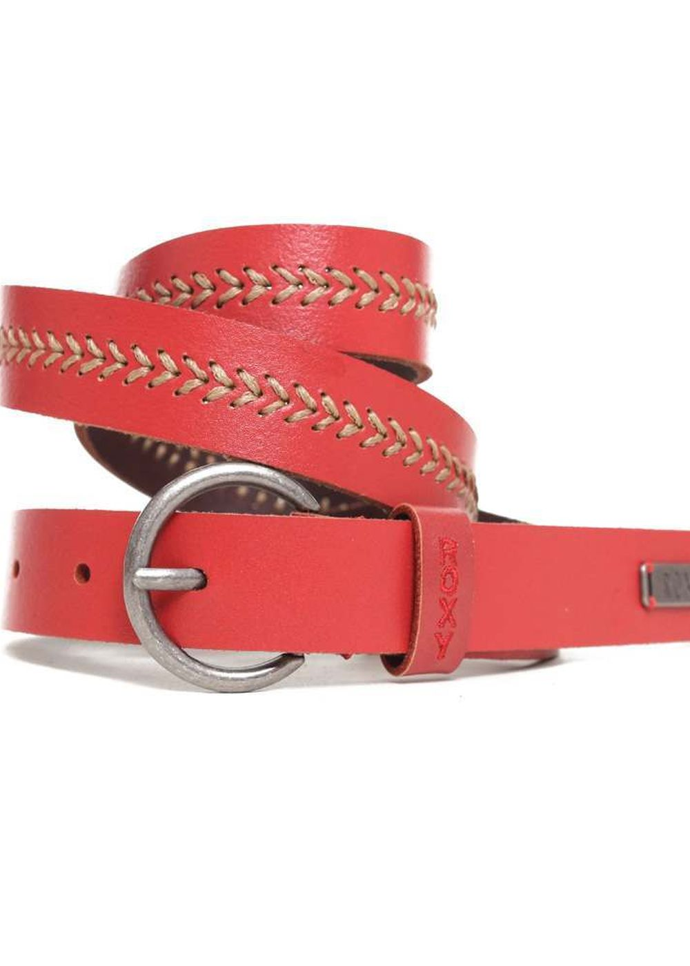 ROXY MOOD POP LEATHER BELT Berrie Red