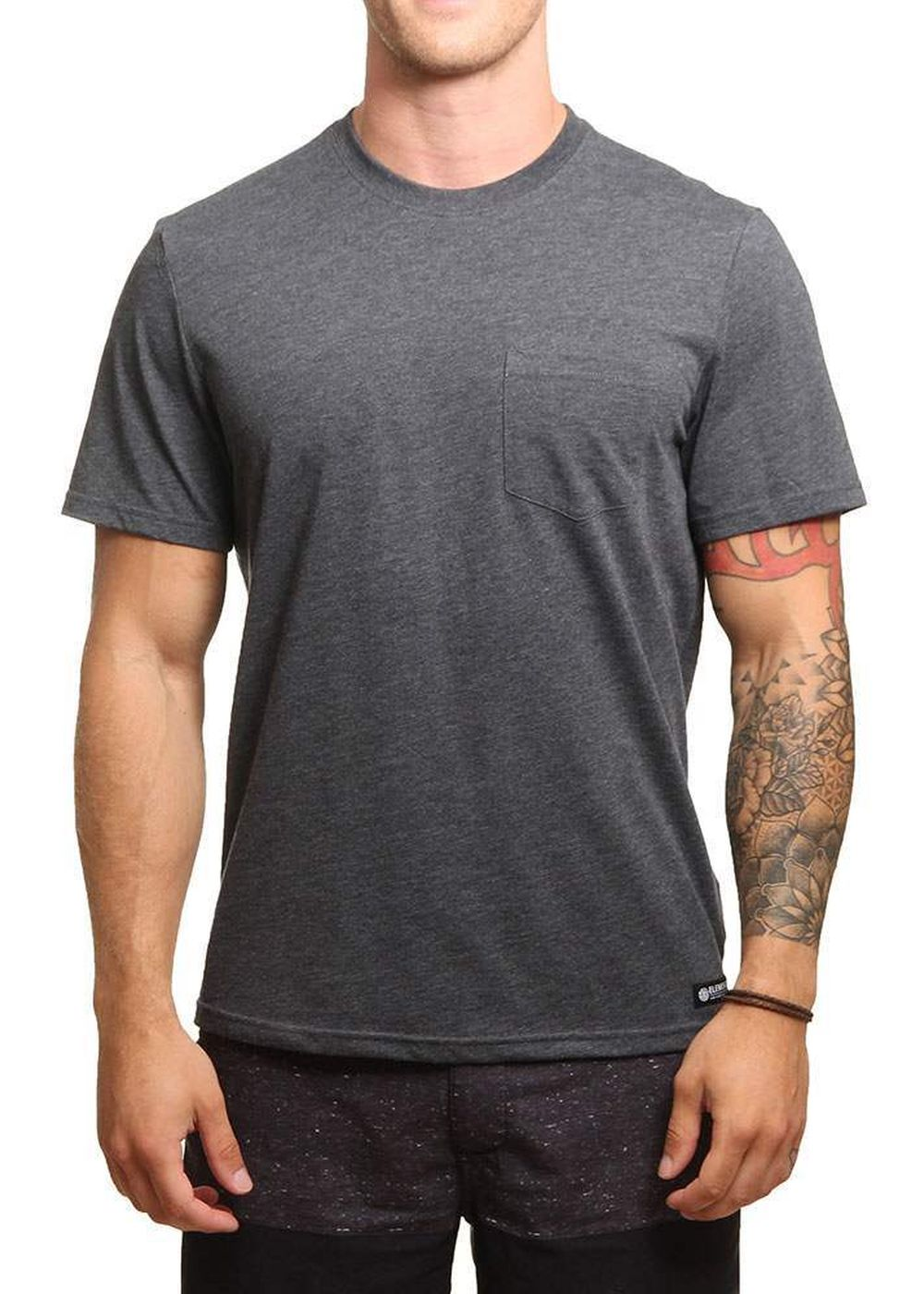 element-basic-pocket-tee-charcoal-heather