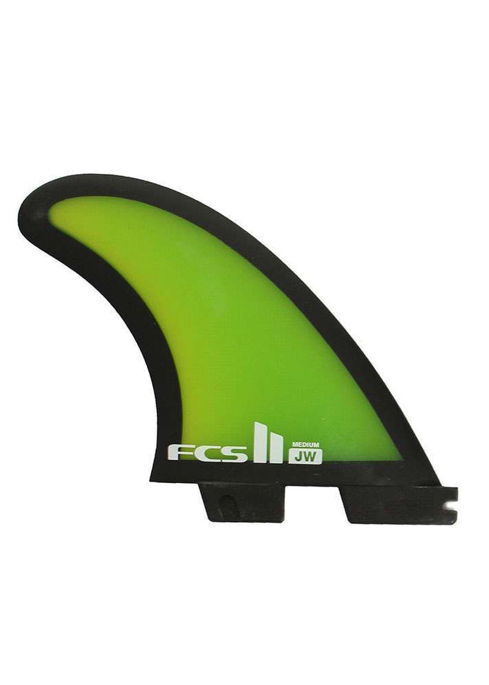 FCS 2 JW PERFORMANCE GLASS MEDIUM SURFBOARD FINS