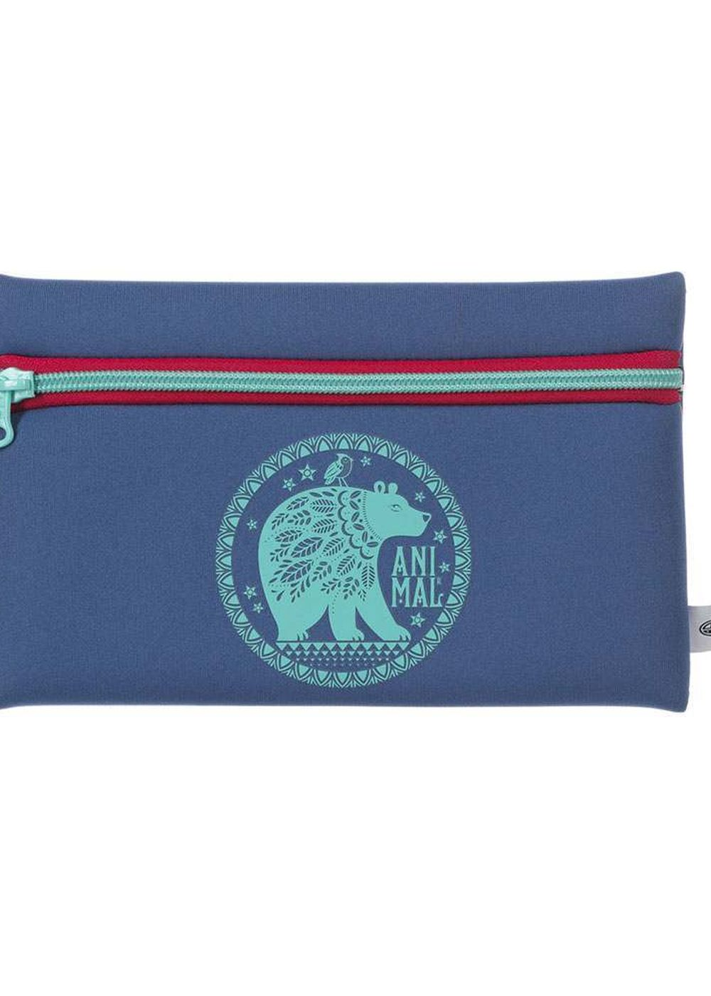 animal noely pencil case vintage blue