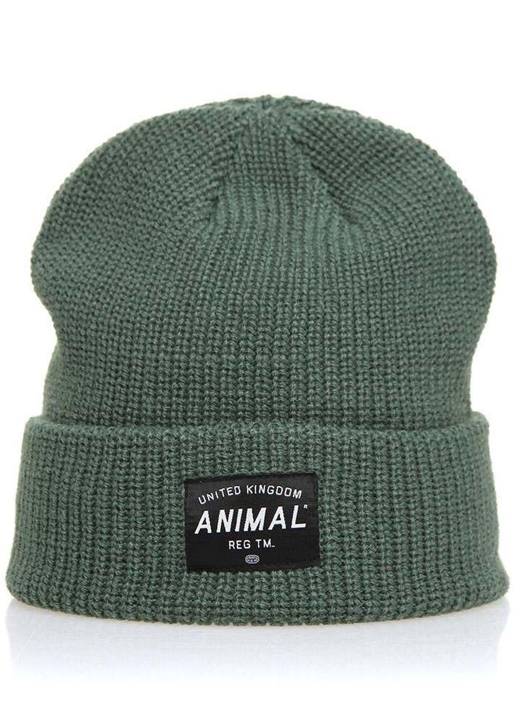 animal allex beanie moss green