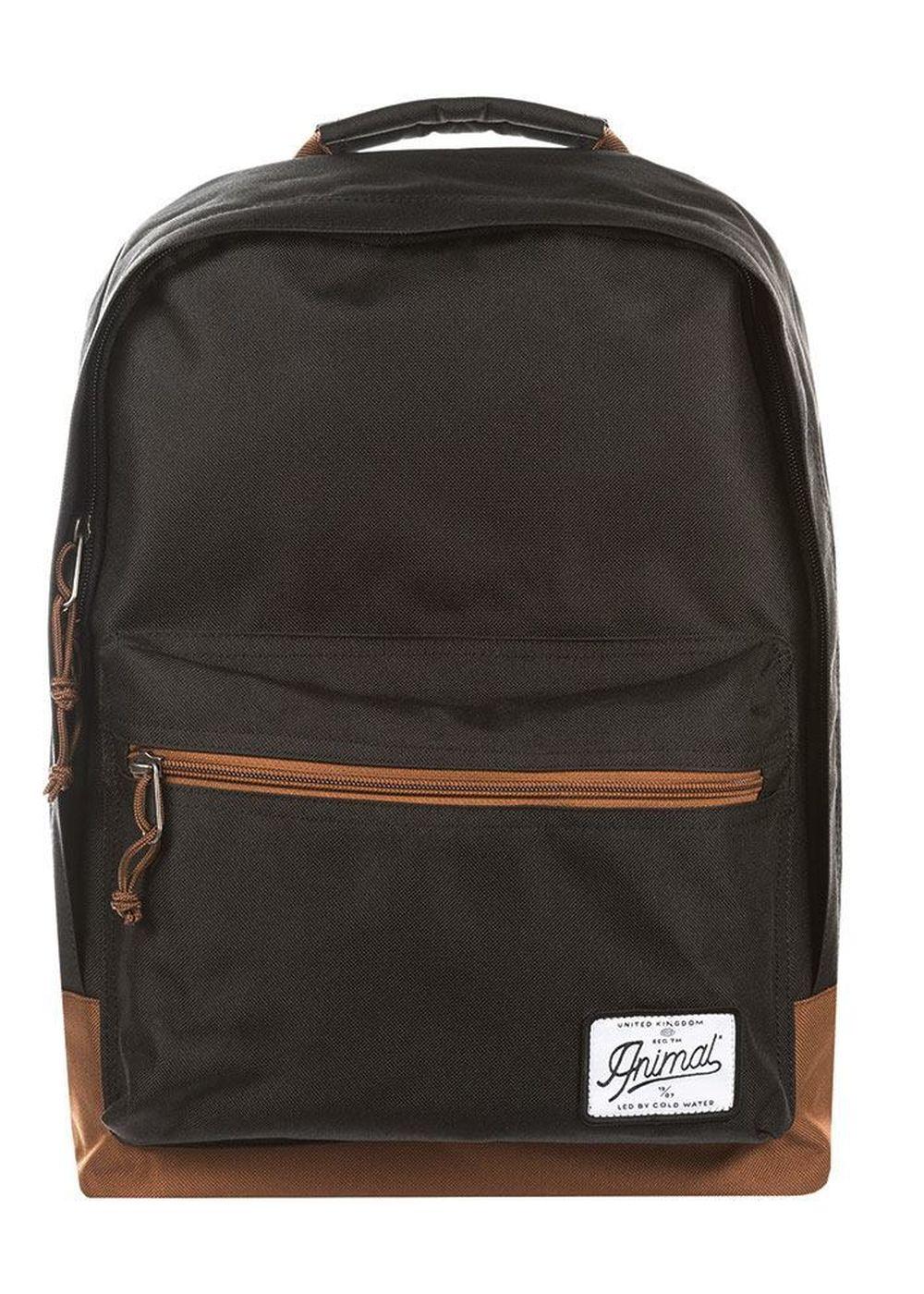 animal carve backpack black