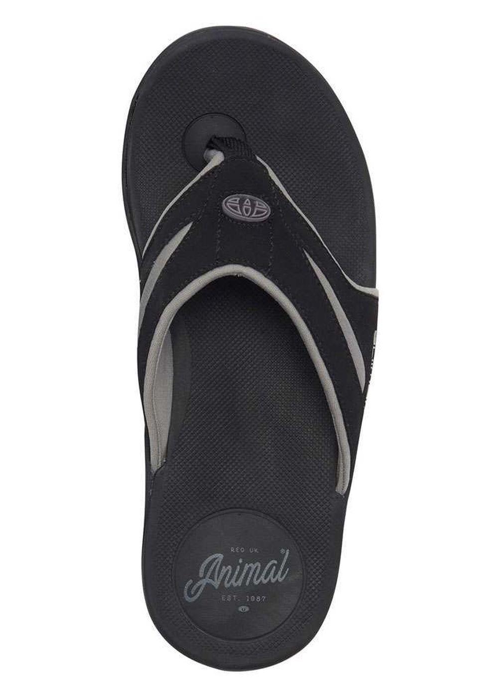 6b5870e7f7c7 Animal Fader Sandals Black