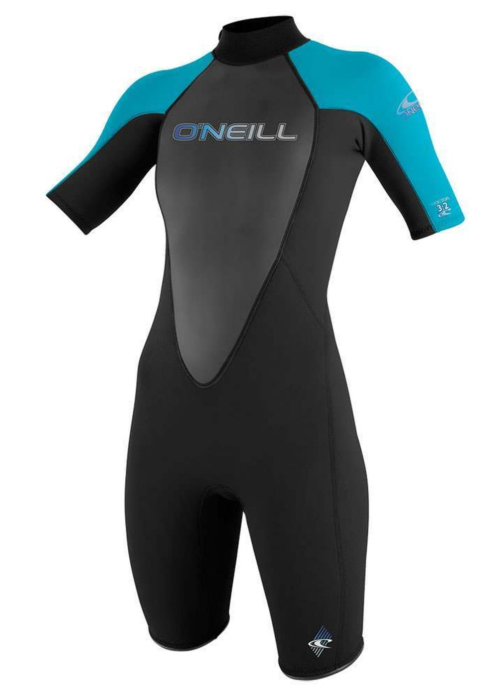 Oneill Womens Reactor 2mm Shorty Wetsuit Turq Picture