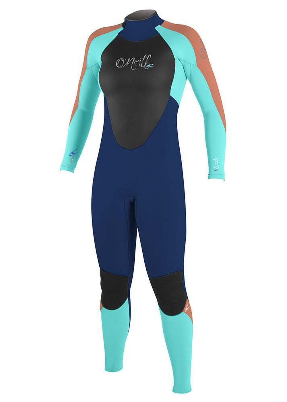 Oneill Womens Epic Bz 5/4 Gbs Wetsuit 2017 Nvy/aqu Picture