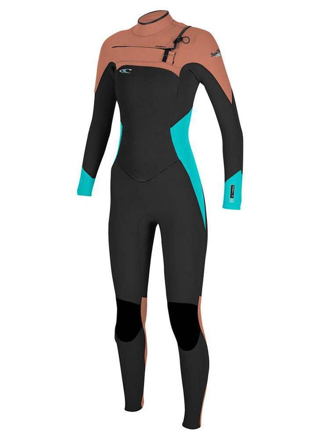 Oneill Womens Superfreak 4/3 Wetsuit 2017 Blk/aqu Picture