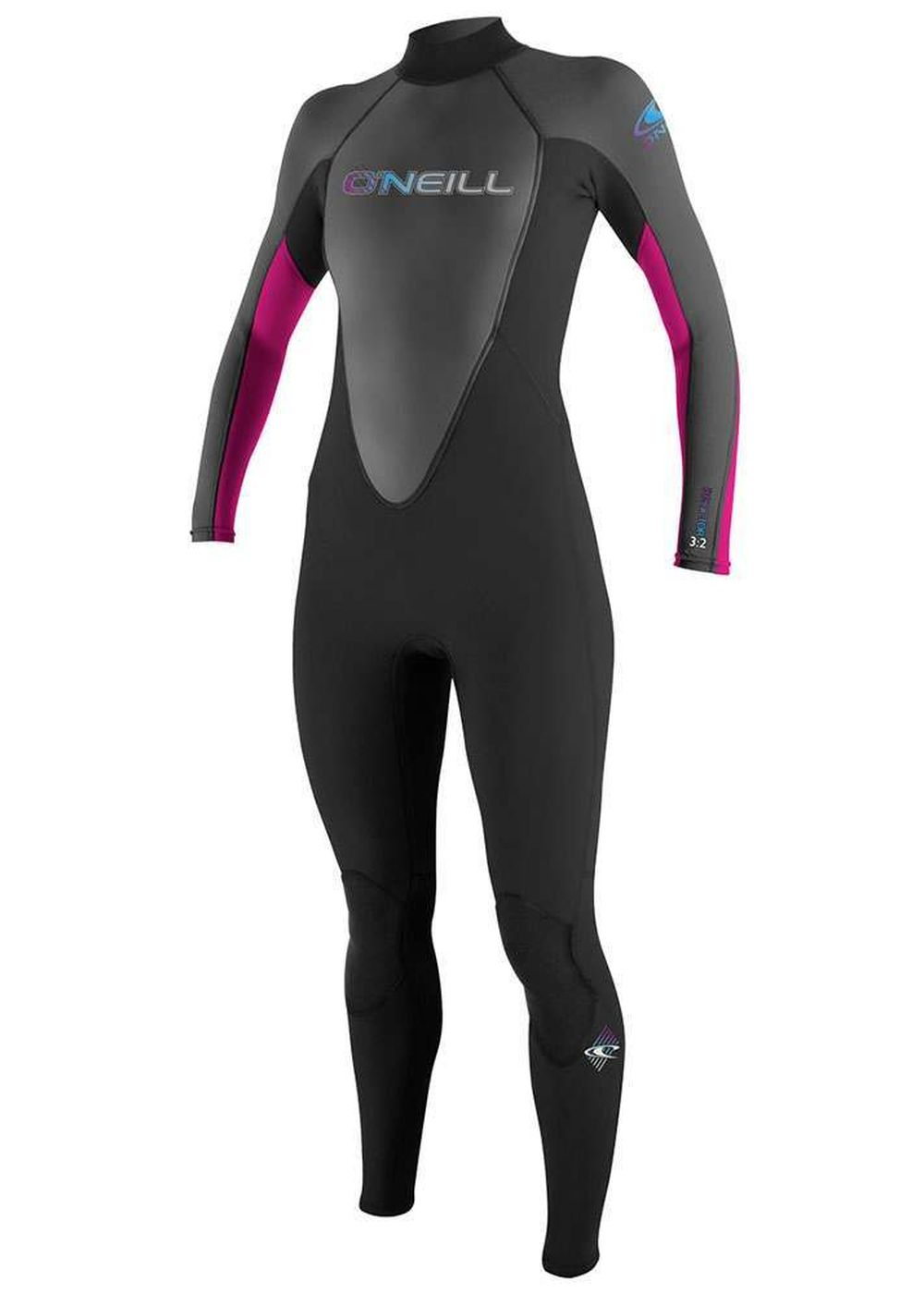 Oneill Womens Reactor 3/2 Wetsuit Blk/graph/berry Picture