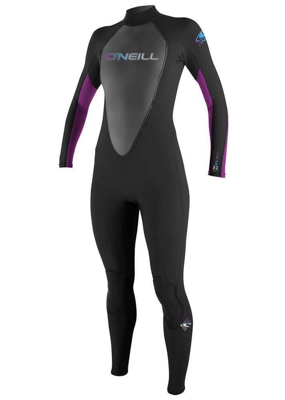 Oneill Womens Reactor 3/2 Wetsuit Black/uv Picture