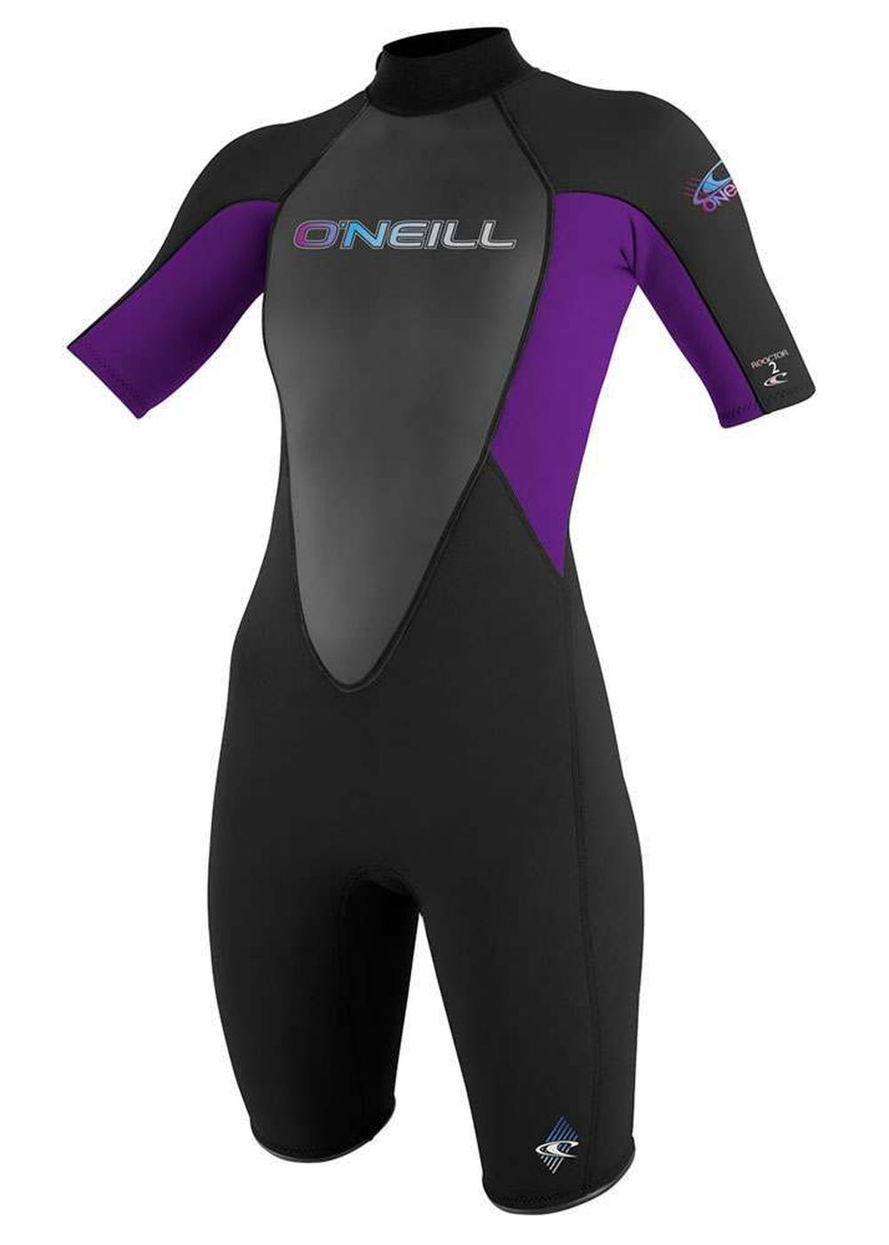 Oneill Womens Reactor 2mm Shorty Wetsuit Blk/uv Picture