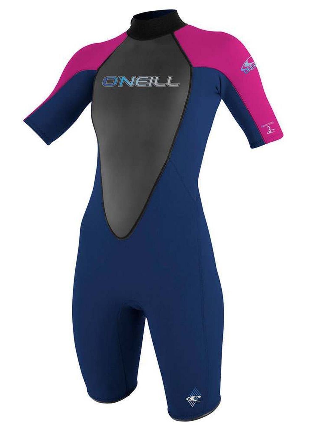 Oneill Womens Reactor 2mm Shorty Wetsuit Nvy/pnk Picture