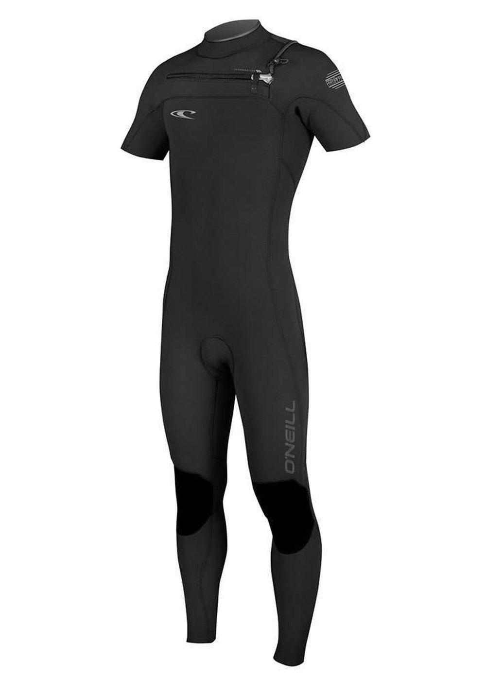 Oneill Hyperfreak Fz 2mm Short Sleeve Wetsuit Blk Picture