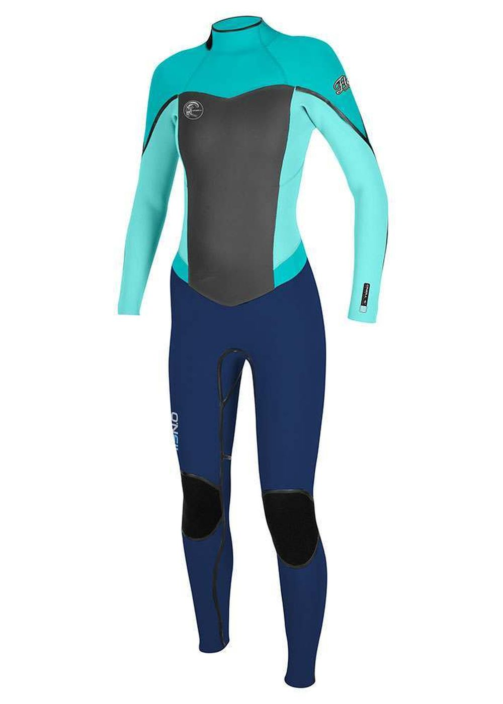 Oneill Womens Flair Bz 3/2 Fsw Wetsuit Nvy/aqua Picture