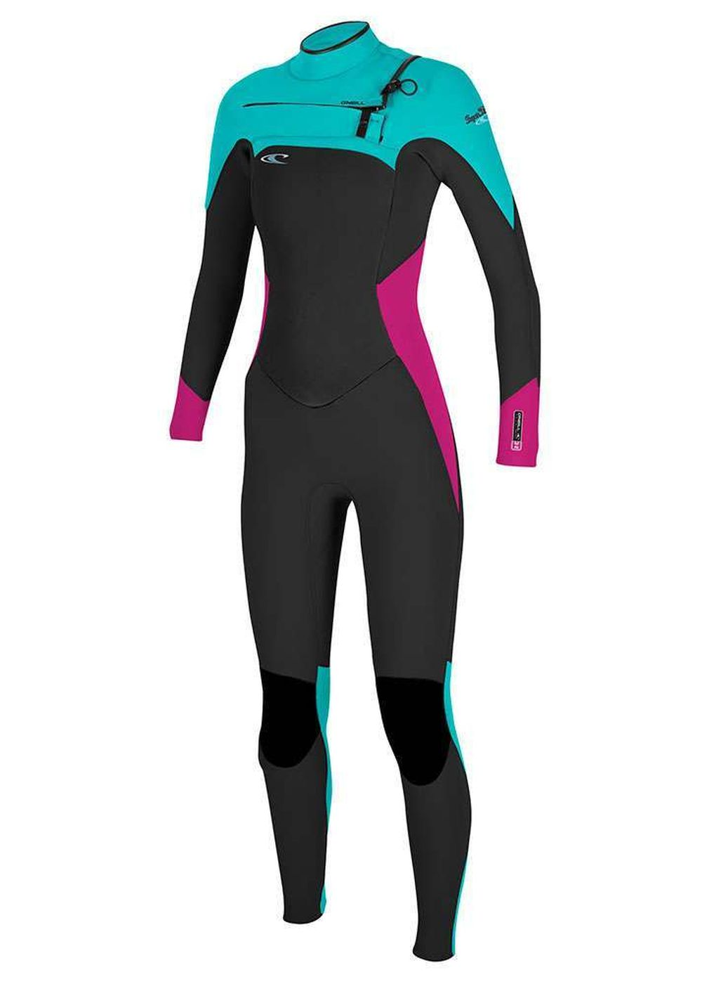 Oneill Womens Superfreak Fz 4/3 Gbs Wetsuit Blk/be Picture