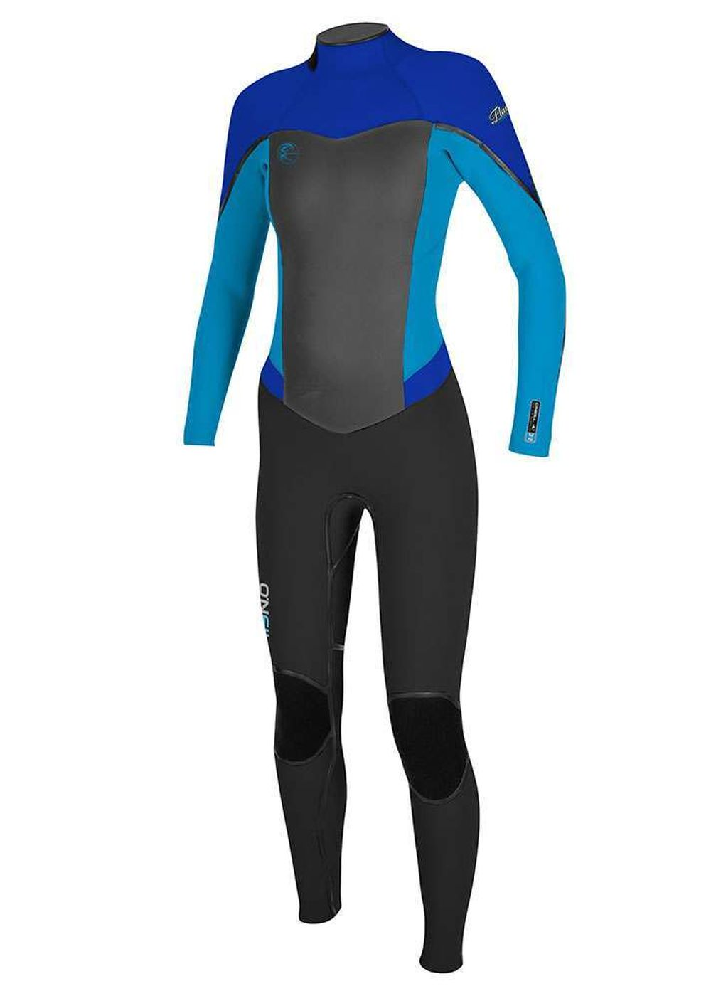 Oneill Womens Flair Zz 5/4 Wetsuit 18 Blk/sky/tah Picture